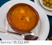 Delicious haricot beans potage. Стоковое фото, фотограф Яков Филимонов / Фотобанк Лори