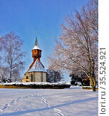 Belsener Kapelle/Kirche im Winter, Deutschland, Baden Württemberg... Стоковое фото, фотограф Zoonar.com/Jürgen Vogt / easy Fotostock / Фотобанк Лори