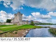 Ross Castle is a 15th-century tower house in County Kerry, Ireland. Стоковое фото, фотограф Zoonar.com/Boris Breytman / easy Fotostock / Фотобанк Лори
