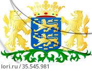 3D Friesland Coat of Arms, Netherlands. 3D Illustration. Стоковое фото, фотограф Zoonar.com/Inna Popkova / easy Fotostock / Фотобанк Лори