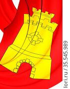 3D Flag of Middelburg, Netherlands. 3D Illustration. Стоковое фото, фотограф Zoonar.com/Inna Popkova / easy Fotostock / Фотобанк Лори