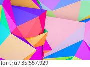 Abstract colorful triangular background pattern, 3 d. Стоковая иллюстрация, иллюстратор EugeneSergeev / Фотобанк Лори