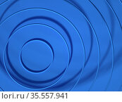 Abstract blue 3d background with flying circles. Стоковая иллюстрация, иллюстратор EugeneSergeev / Фотобанк Лори