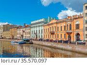 Embankment of the Moyka River in Saint Petersburg, Russia. Стоковое фото, фотограф Zoonar.com/Boris Breytman / easy Fotostock / Фотобанк Лори