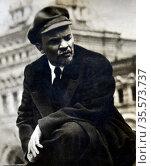Vladimir Ilyich Ulyanov (1870 - 1924), better known by his alias ... (2020 год). Редакционное фото, агентство World History Archive / Фотобанк Лори