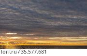 Timelapse sunset by the sea. Стоковое видео, видеограф Игорь Жоров / Фотобанк Лори