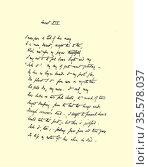 Manuscript of Sonnet XIX 'I never gave a lock of hair away ...' by... Редакционное фото, агентство World History Archive / Фотобанк Лори