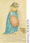 The Wonderful Miss Atkinson, the pig-faced woman. Born in Ireland... Редакционное фото, агентство World History Archive / Фотобанк Лори