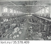 Production of cannon, Germany. From 'Das Buch der Erfindungen Gewerbe... Редакционное фото, агентство World History Archive / Фотобанк Лори