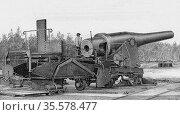 Krupp 71-ton gun of 1881.  Krupp of Essen was the great German armaments... Редакционное фото, агентство World History Archive / Фотобанк Лори