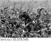 Battle of Stoke, 16 June 1487. German mercenaries under Martin Schwarz... Редакционное фото, агентство World History Archive / Фотобанк Лори