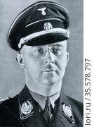 Heinrich Luitpold Himmler (1900?1945) high-ranking German Nazi politician... Редакционное фото, агентство World History Archive / Фотобанк Лори