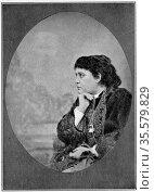 Helena Petrovna Blavatsky (born Hahn - 1831-1891). Russian-born American... Редакционное фото, агентство World History Archive / Фотобанк Лори