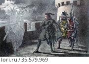 William Shakespeare: Hamlet, Act l, Sc. IV. Hamlet seeing his father... Редакционное фото, агентство World History Archive / Фотобанк Лори
