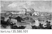 Phoenix Iron and Bridge Works, Phoenixville, Pennsylvania. From '... Редакционное фото, агентство World History Archive / Фотобанк Лори