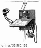Telephone apparatus available to New York subscribers. This used ... Редакционное фото, агентство World History Archive / Фотобанк Лори