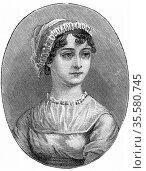 Jane Austen (1775-1817) English novelist remembered for her six great... Редакционное фото, агентство World History Archive / Фотобанк Лори