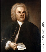 Johann Sebastian Bach (1685-1750) in 1746. German composer and organist... Редакционное фото, агентство World History Archive / Фотобанк Лори