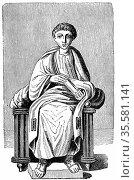 Virgil (Publius Vergillus Maro 79-19 BC)Ancient Roman poet. Author... Редакционное фото, агентство World History Archive / Фотобанк Лори
