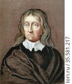 John Milton (1608-74) English poet. Chromolithograph after crayon... Редакционное фото, агентство World History Archive / Фотобанк Лори