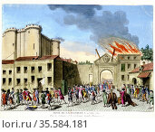 French Revolution, 1789. Storming of the Bastille, 14 July 1789.  ... Редакционное фото, агентство World History Archive / Фотобанк Лори