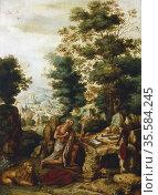 'St Jerome in a landscape'. St Jerome (340-420) born in Strido, Dalmatia... Редакционное фото, агентство World History Archive / Фотобанк Лори