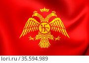 Byzantine Eagle, Flag of Palaiologos Dynasty. Close Up. Стоковое фото, фотограф Zoonar.com/Inna Popkova / easy Fotostock / Фотобанк Лори