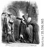 Shakespeare, Richard III Act IV Sc. IV.  Elizabeth Woodville and ... Редакционное фото, агентство World History Archive / Фотобанк Лори