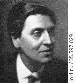 Alban Berg (1885-1935) Austrian composer, a pupil of Schoenberg. Редакционное фото, агентство World History Archive / Фотобанк Лори