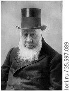 (Stephanus Johannes) Paulus Kruger (1825-1904) known as Oom Paul. ... Редакционное фото, агентство World History Archive / Фотобанк Лори