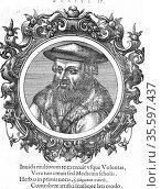 Leonhard Fuchs (1501-56) German botanist and physician. Fuchsia named... Редакционное фото, агентство World History Archive / Фотобанк Лори