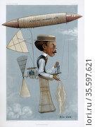Alberto Santos-Dumont (1873-1932) Brazilian aviation pioneer. Here... Редакционное фото, агентство World History Archive / Фотобанк Лори