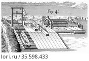 Roller Bridge or inclined plane for transferring vessels from one... Редакционное фото, агентство World History Archive / Фотобанк Лори