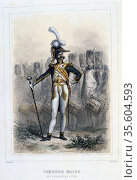 Drum Major of the Foot Grenadiers.  From 'Napoleon 1er et la Garde... Редакционное фото, агентство World History Archive / Фотобанк Лори