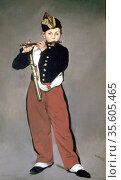 The Fife Player (1866). Painting by Edouard Manet (1832-1883) French... Редакционное фото, агентство World History Archive / Фотобанк Лори