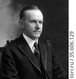 John Calvin Coolidge, Jr. (July 4, 1872 January 5, 1933) 30th President... Редакционное фото, агентство World History Archive / Фотобанк Лори