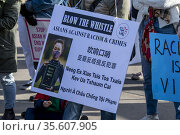 St. Paul, Minnesota. Asian Americans and supporting communities rally... Стоковое фото, фотограф Michael Siluk / age Fotostock / Фотобанк Лори