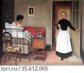 Félix Edouard Vallotton (1865 - 1925) Swiss painter , 1892 the patient. Редакционное фото, агентство World History Archive / Фотобанк Лори
