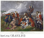 Death of General Wolfe' after painting by Benjamin West. James Wolfe... Редакционное фото, агентство World History Archive / Фотобанк Лори