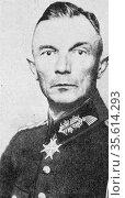 Fedor von Bock (1880-1945) German army officer. Rose to rank of Field... Редакционное фото, агентство World History Archive / Фотобанк Лори