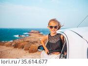Family on vacation. Summer holiday and car travel concept. Стоковое фото, фотограф Дмитрий Травников / Фотобанк Лори