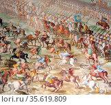 Army of Muhammed IX, (Nasrid Sultan of Granada), at the Battle of... Редакционное фото, агентство World History Archive / Фотобанк Лори