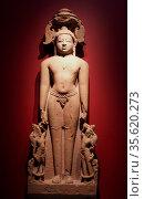 A Jina in sandstone from Madhya Pradesh, 1000-1100 AD. Accompanied... Редакционное фото, агентство World History Archive / Фотобанк Лори