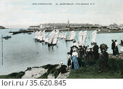 General view of Saint-Malo, Brittany, north-western France, c1900... Редакционное фото, агентство World History Archive / Фотобанк Лори