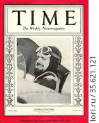 Front cover of Time Magaine 26th June 1933. Shows Italian aviator... Редакционное фото, агентство World History Archive / Фотобанк Лори