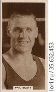 'Phil Scott (1900-1983) British heavyweight boxer, alias Phillip ... Редакционное фото, агентство World History Archive / Фотобанк Лори