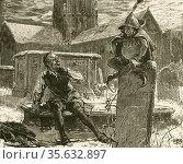 'A Goblin, a familiar demon, appearing to the drunken, Scrooge-like... Редакционное фото, агентство World History Archive / Фотобанк Лори