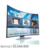 Curved Smart TV with OLED screen. Стоковое фото, фотограф Zoonar.com/Cigdem Simsek / easy Fotostock / Фотобанк Лори