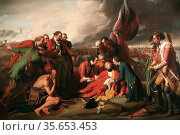The Death of General Wolfe is a well-known 1770 painting by Anglo... Редакционное фото, агентство World History Archive / Фотобанк Лори