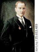 Mustafa Kemal Ataturk, 1881–10 November 1938) was an Ottoman and ... Редакционное фото, агентство World History Archive / Фотобанк Лори
